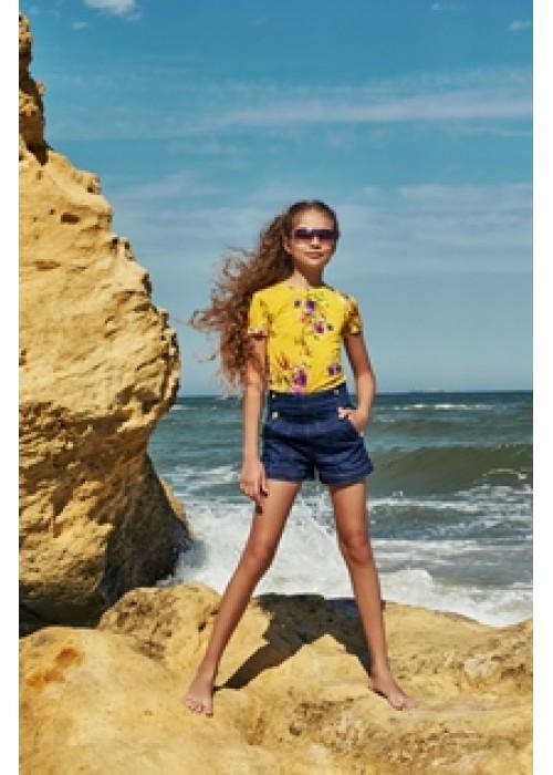 """T-shirt """"Zira"""" mustard"""