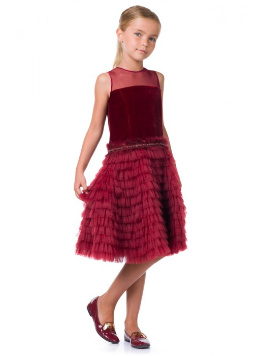 "Dress ""Evening Star"" burgundy"