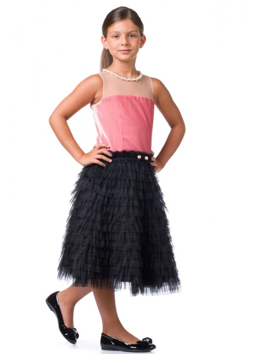 "Dress ""Evening Star"" coral"
