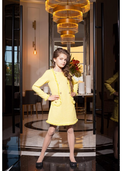 "Dress ""Liana"" yellow"