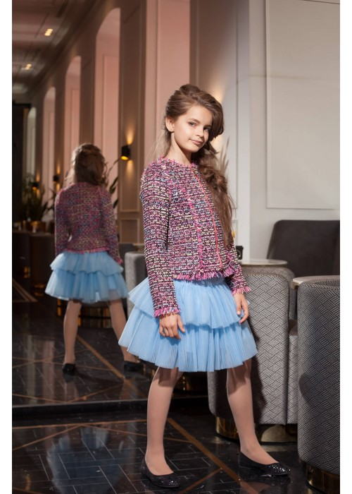 Tutu skirt (pleated) blue