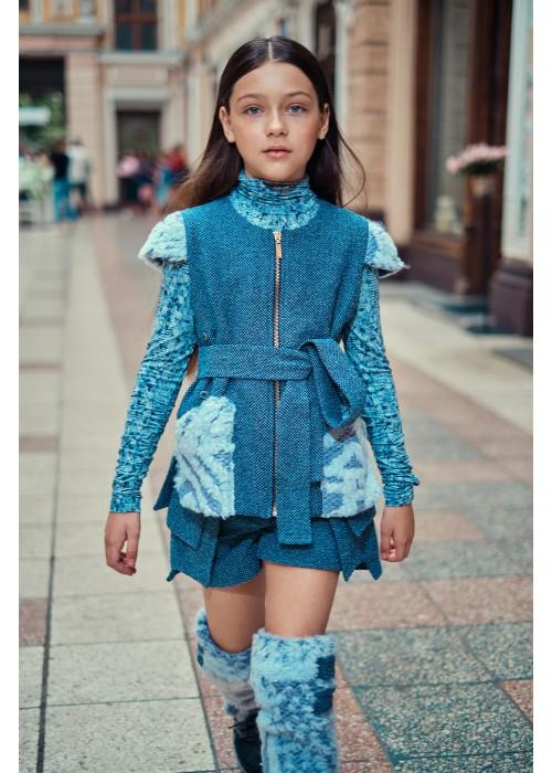 "Vest ""Iris"" blue"