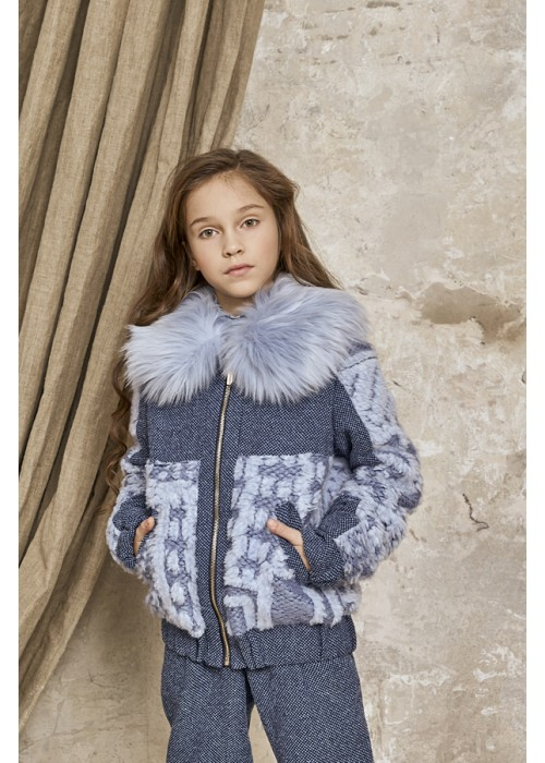 "Jacket ""Iris"" blue"
