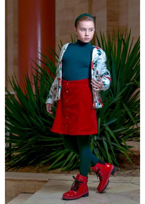 """Skirt """"Velvet"""" burgundy"""