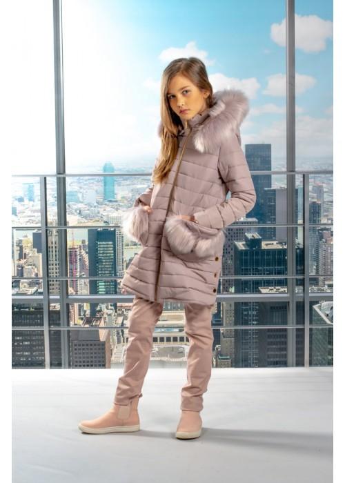 Jeans Cotton pink powder dark
