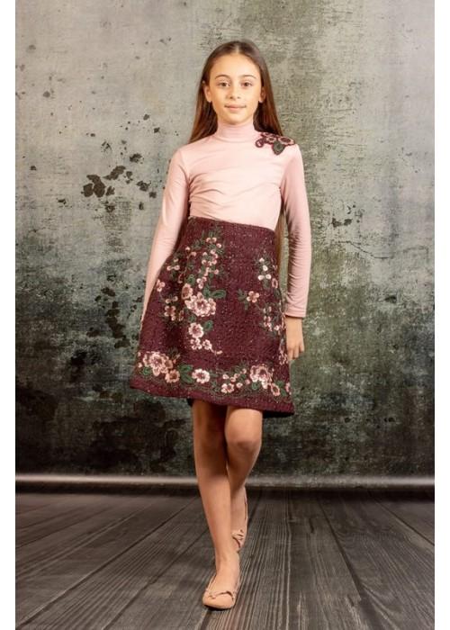 "Skirt ""Camellia"" bordo"