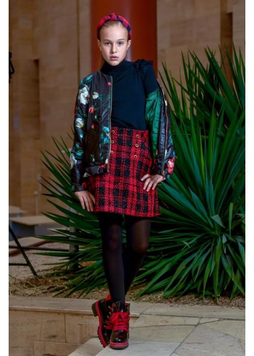 "Skirt ""Ornella"" red-black"
