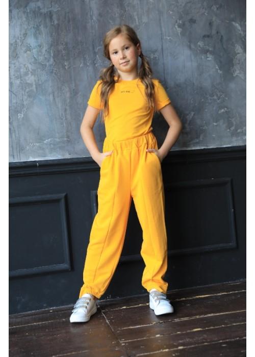 "T-shirt ""Relax"" yellow"